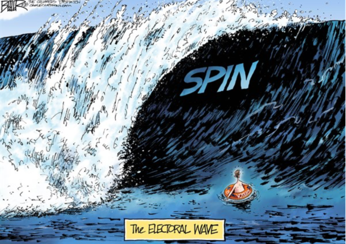 Blue wave-spin