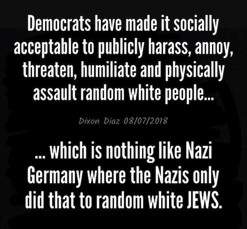Democrats-Nazis-harrassment