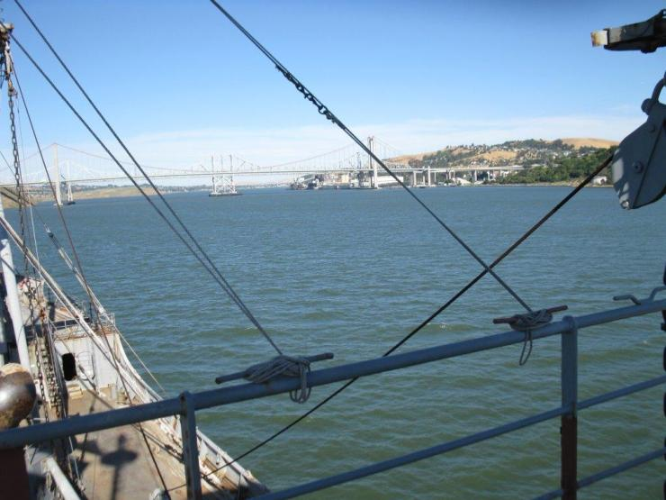 ROV approaching Carquinez straights