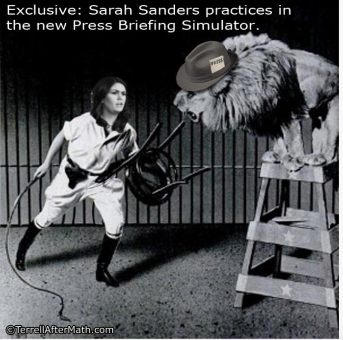 Sarah Sanders-lion