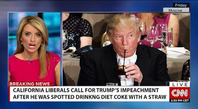 Trump-using straw