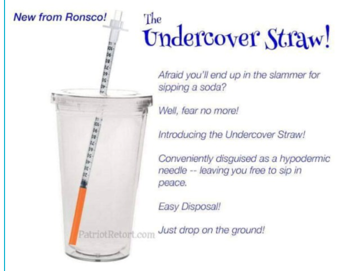 Undercover straw