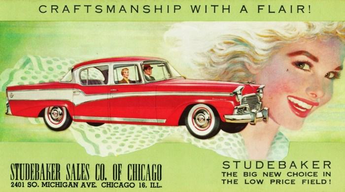 56 Studebaker President Classic Chicago Ad
