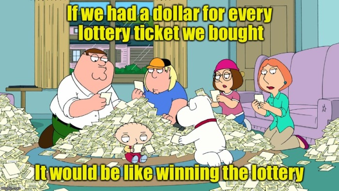 Dollar for a lottery ticket
