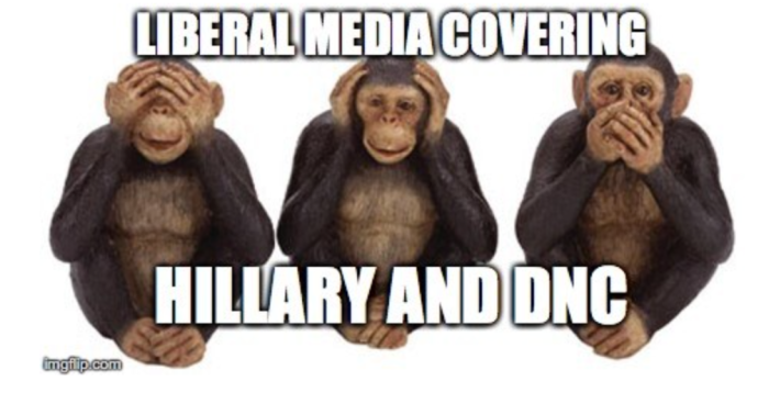 Librul Media covering Old Hitlery