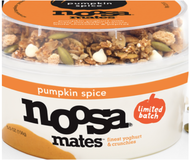 Noosa Pumpkin Spice Yogurt