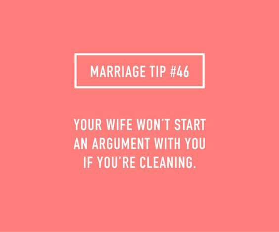 Wedded Bliss-Cleaning-no argument