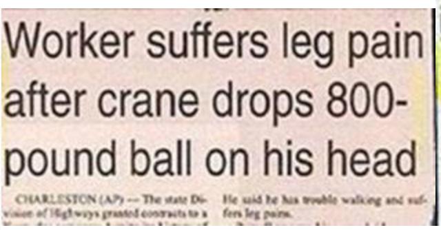 Worker-leg pain