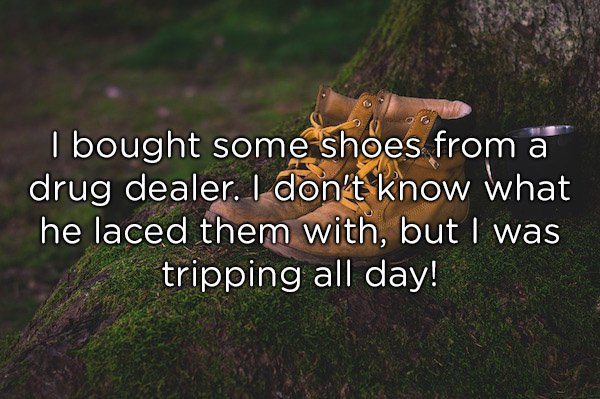 bought shoes from drug dealer
