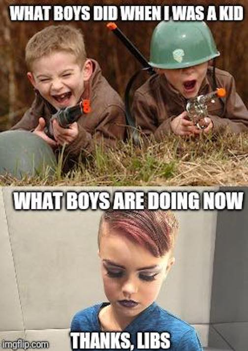Boys then and now