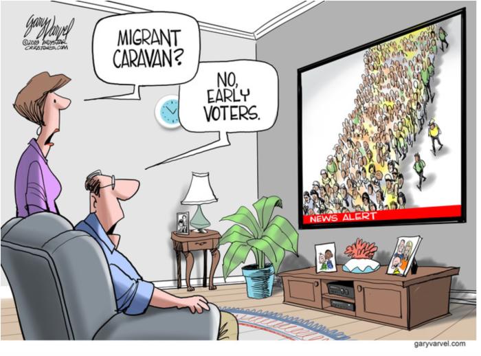 Caravan-early-voters