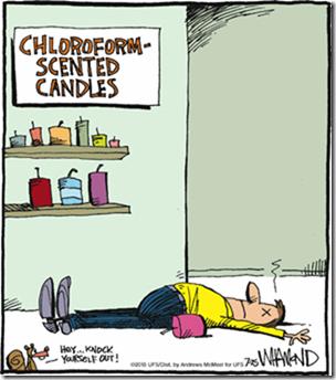 Chloroform candles