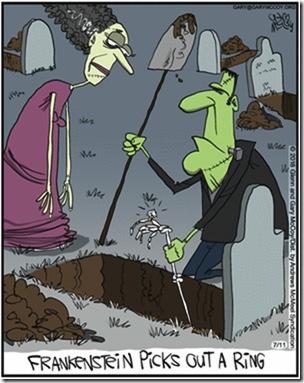 Frankenstein picks out a ring