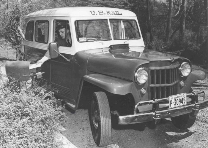 Jeep wagon-USPS-rural delivery