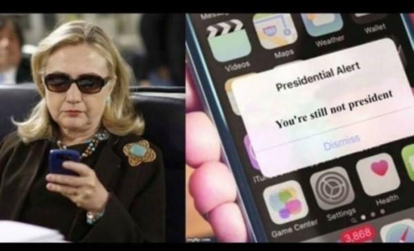 Presidential Alert-Hitlery-still not President