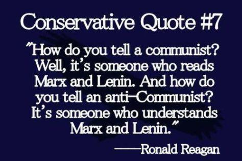 Reagan on Marx:Lenin
