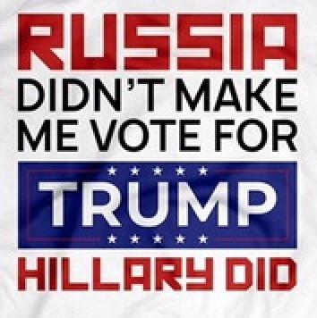 Russia didn't make me vote for Trump