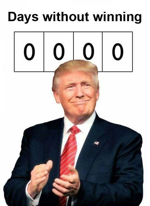 trump-days without winning
