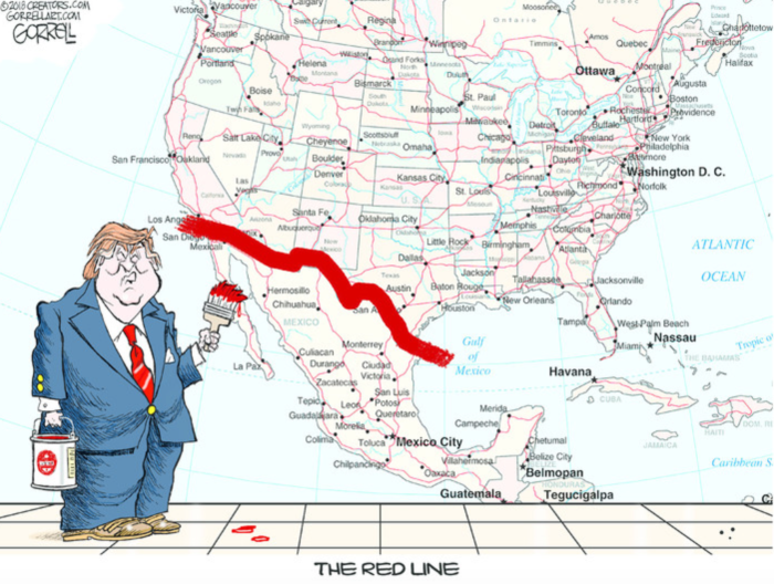Trump-red line