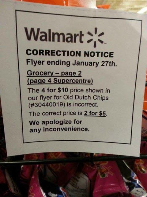 Walmart Correction