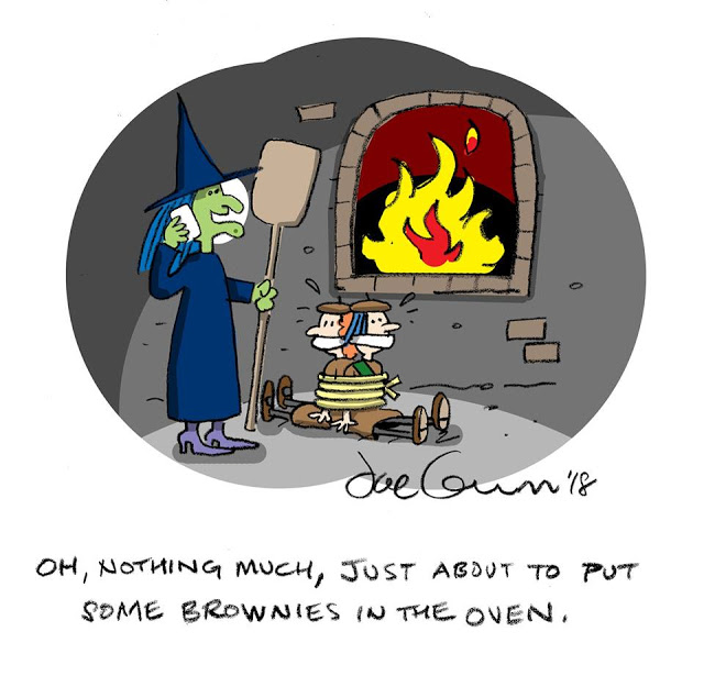 Witch-brownies in the oven