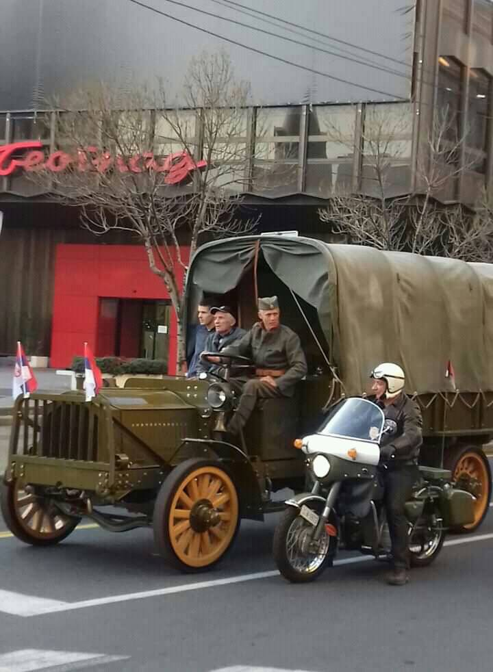 1918 Packard truck-on parade in Belgrade