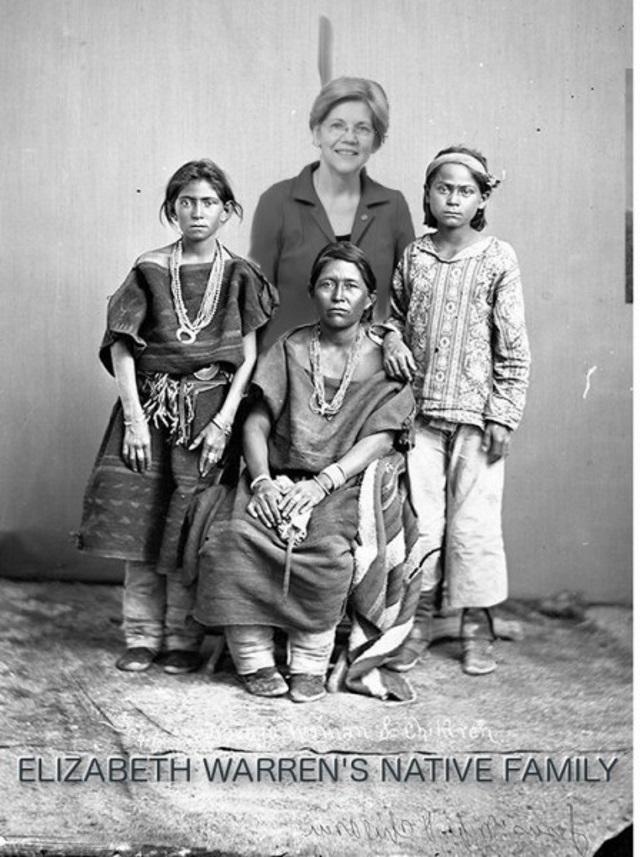 Fauxchahontas' family portrait