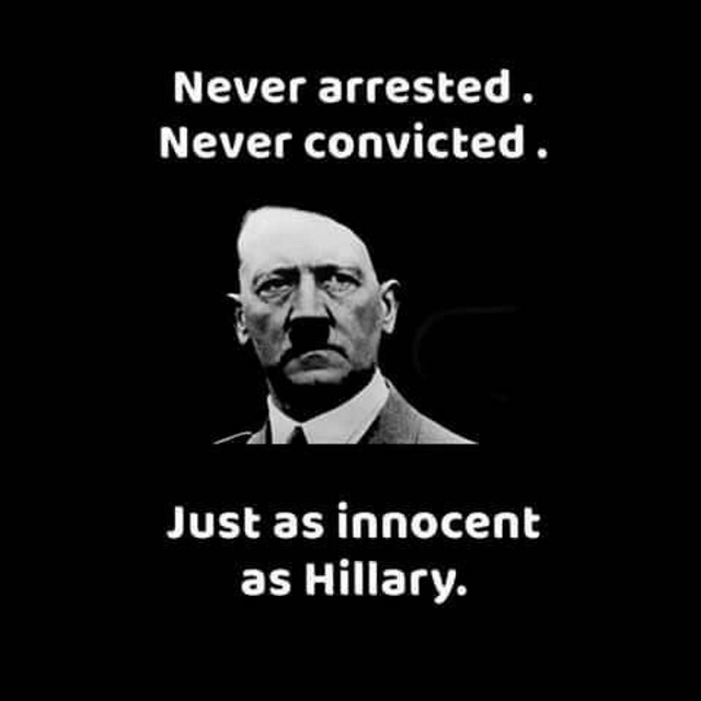 Hitler as innocent as Hitlery
