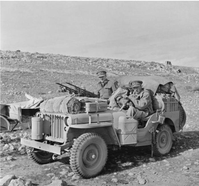 Jeep on patrol