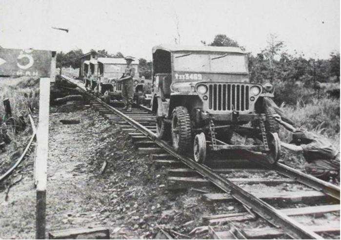 Jeeps doing rail duty