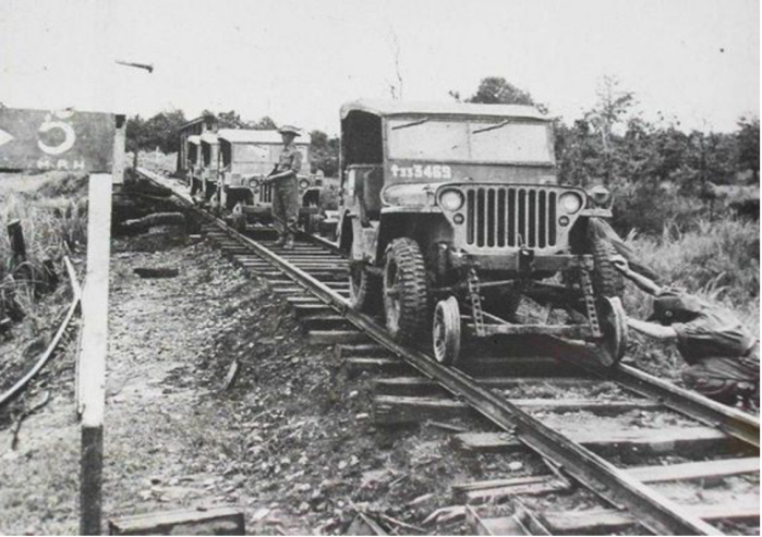 Jeeps doing rail duty