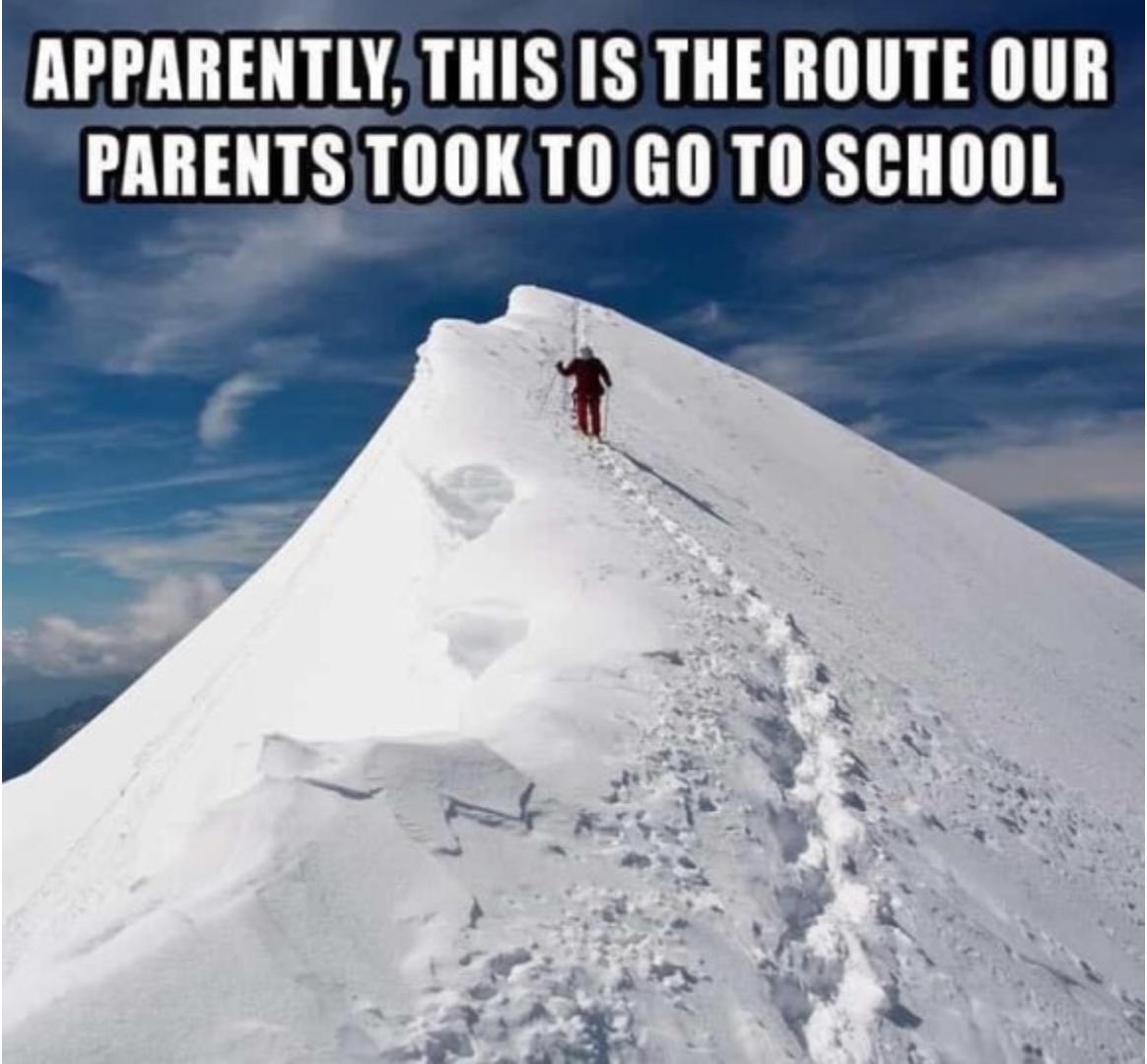 Parents route to school