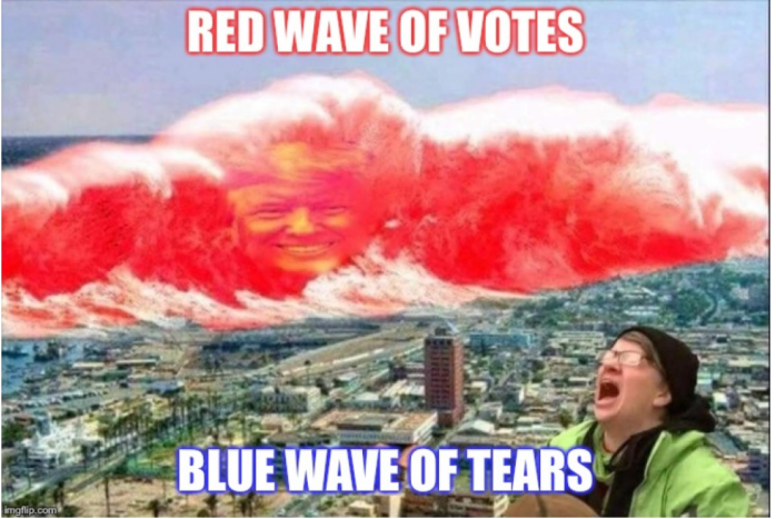 Red wave vs blue tears