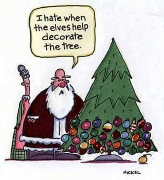 Elves-decorate tree