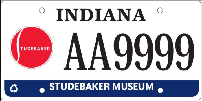 Studebaker license plate
