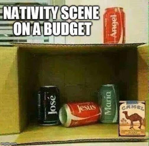 Nativity scene-budget version