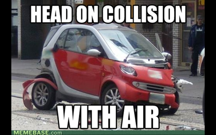 Smart-Car-collision with air