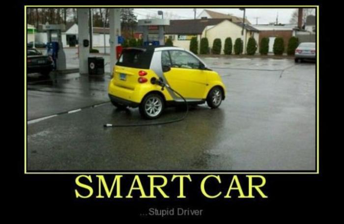 Smart-car-stupid driver