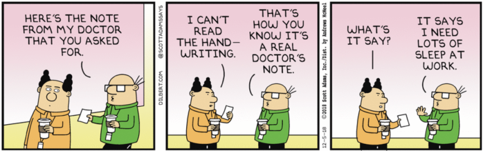 Wally has been to Dr. Mc