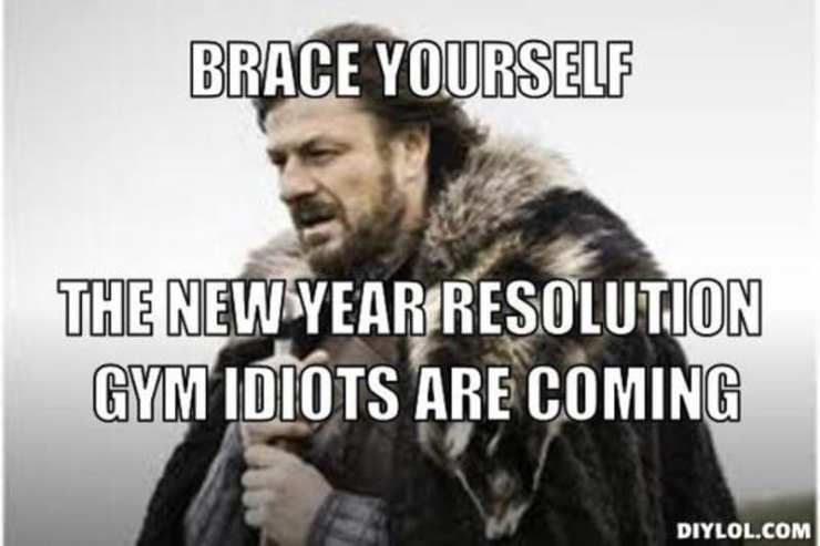 New Year Gym idiots