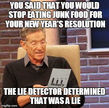 New Year lie detector