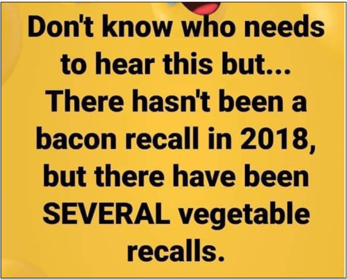 No bacon recall