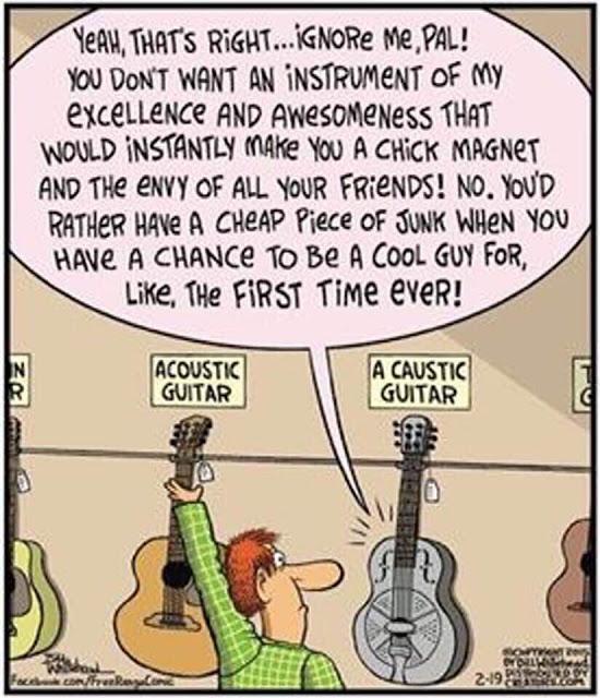 a caustic guitar