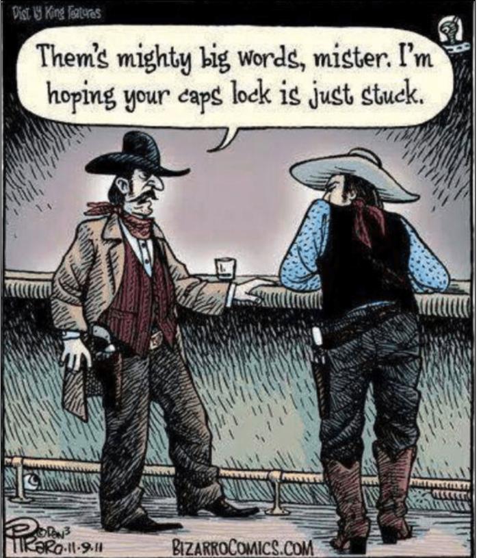 big words-cap lock