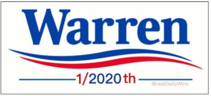 fauxchahontas-1:1024th bumper sticker