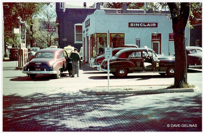 kodachrome photos of gas stations-boston