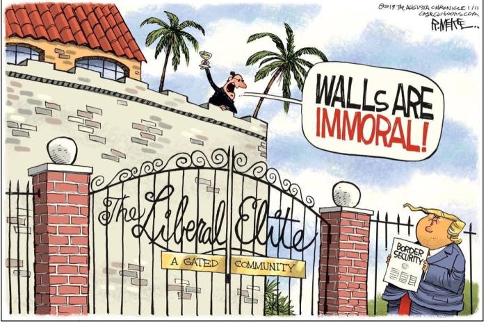 lib elites' walls