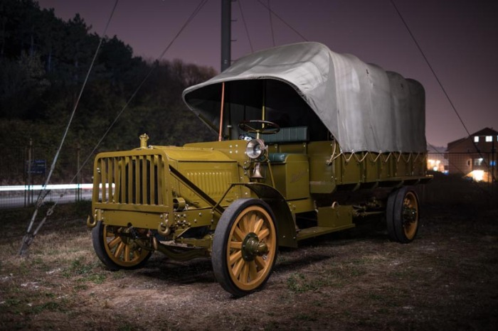 packard truck at night 1
