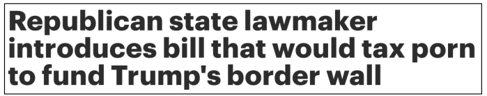 porn tax for wall