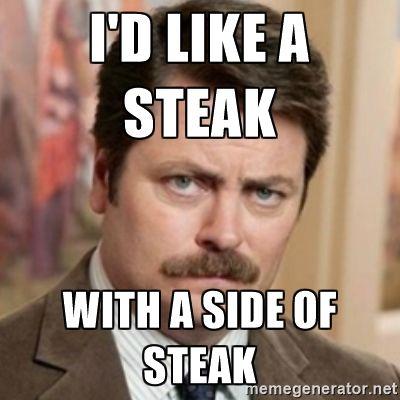 steak with side of steak